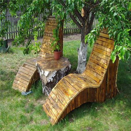 садовая мебель из дерева - шезлонги