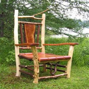 садовая мебель из дерева - кресло