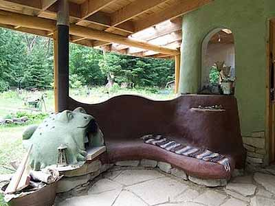 дачные постройки необычные скамейки
