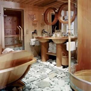 дом-шале ванная и душевая кабинка