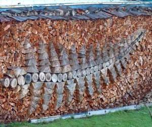 дрова для дачи в дровнице