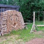 как сложить дрова для дачи