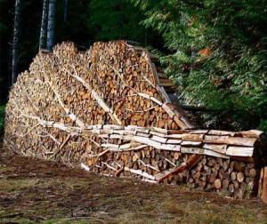 красивые дровницы из дров на даче фото