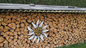 дровница для дачи