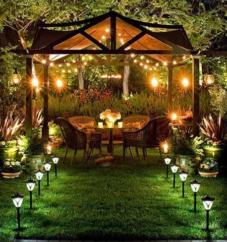 красивая садовая беседка фото