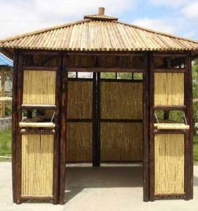 беседка из бамбука в восточном стиле