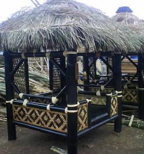 Экзотические беседки из бамбука