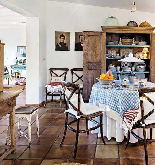 загородный дом интерьер столовой