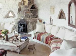 загородный дом в Греции интерьер