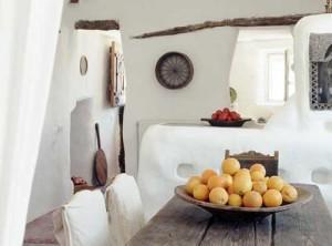 кухня в греческом загородном доме