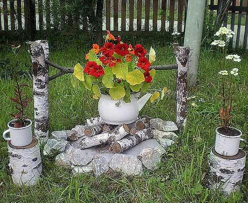 Поделки своими руками в саду на даче
