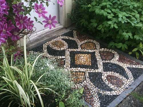 дорожки на даче с мозаикой