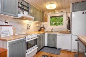 интерьер загородного дома в Швеции кухня