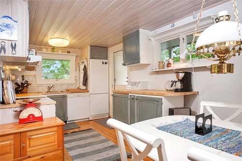 интерьер загородного дома в Швеции дизайн кухни