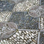 садовые дорожки с фактурной мозаикой