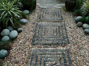 мозаичные плиты для садовой дорожки