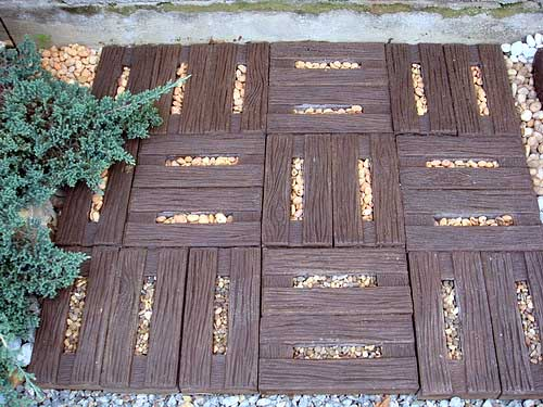 тротуарная плитка для дачи с имитацией дерева