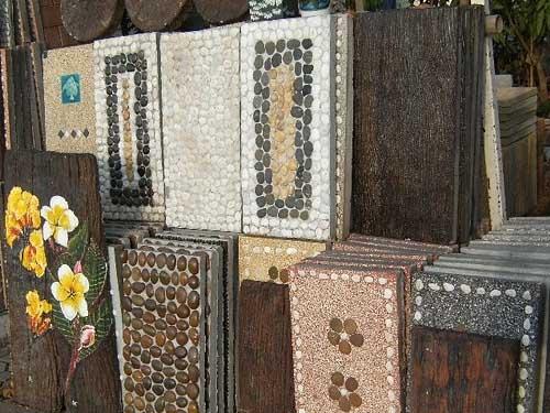 тротуарная плитка для дачи с мозаикой