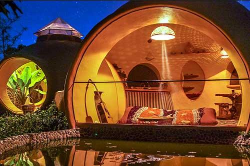 необычный дачный дом дизайн
