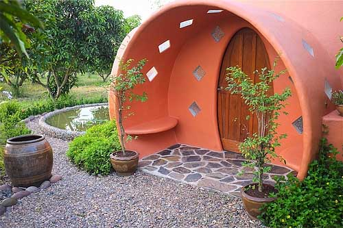 дизайн дачного дома с куполом фото