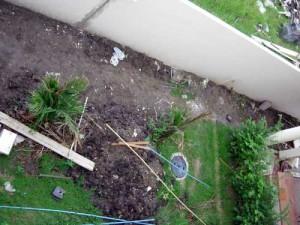 маленький участок около дома каким он был до начала работ по дизайну сада