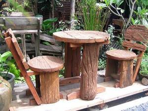 купить деревянную садоаую мебель