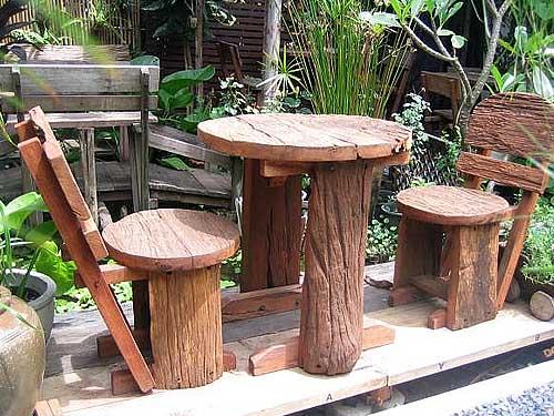 купить деревянную садовую мебель