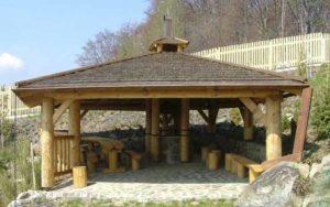 деревянные беседки для дачи