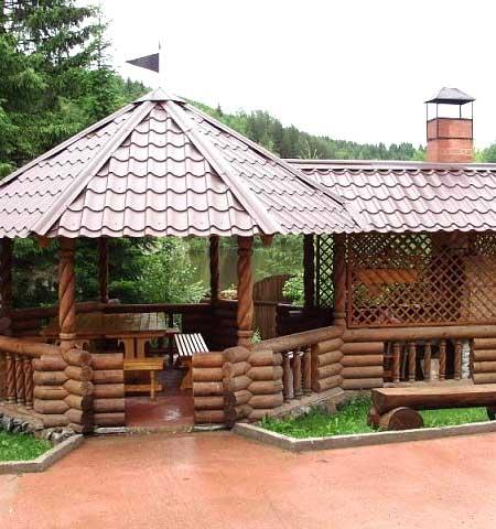 Красивые деревянные беседки для дачи