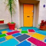 бетонные плиты для мощения дворика
