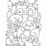 шаблон с кошками лоя росписи пола на веранде