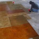 что делать с серым бетонным полом в гараже