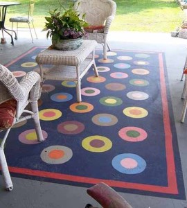 как сделать красивый бетонный пол на веранде