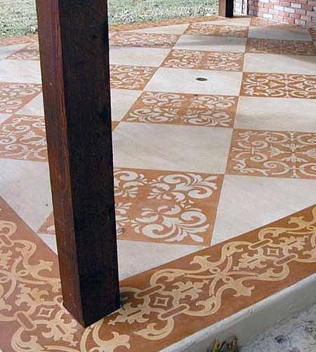 бетонный пол на веранде