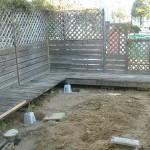 частично демонтируем старую деревянную террасу