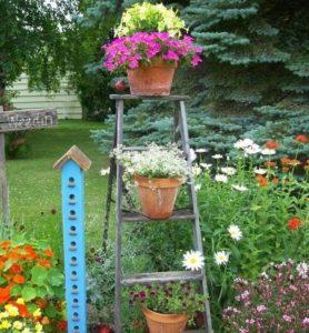 клумбы и цветники из подручных материалов фото