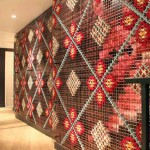 необычное оформление стен  в загородном доме