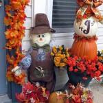 как украсить дачу осенью