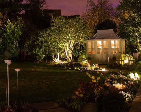 освещение на даче фото