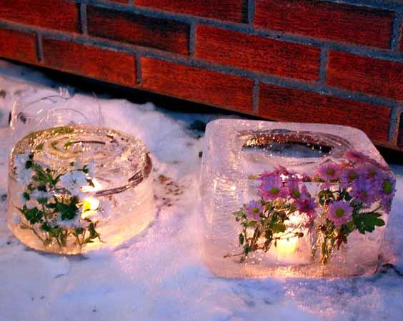 освещение на даче зимой