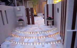 красивые идеи освещения на даче