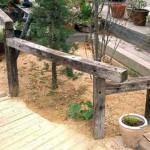 садовая дорожка из дерева в дизайне садового участка