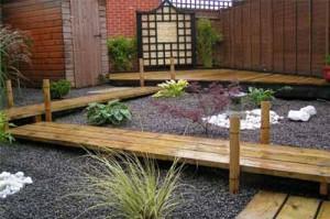 деревянные дорожки в саду