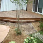 садовые дорожки из деревянных досок