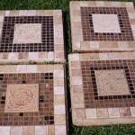 мозаика как элемент садовых дорожек