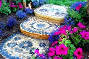 красивые садовые дорожки с мозаикой своими руками