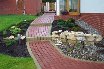 Садовые дорожки дизайн фото