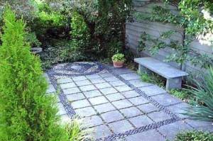 садовые дорожки из плит на даче