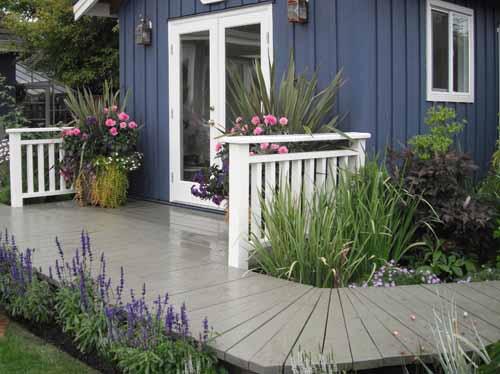 дизайн дачного участка оформляем вход в дом