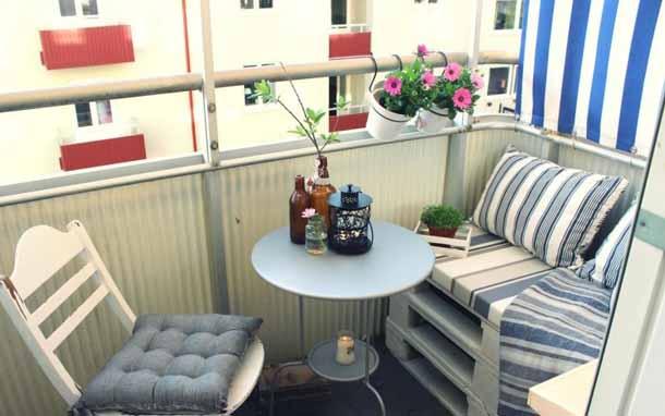Мебель на балкон из поддонов своими руками